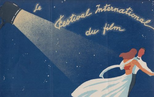 Promotional flyer for the first Cannes film festival, 1939
