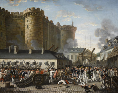 Storming of the Bastille in 1789: the French Revolution begins