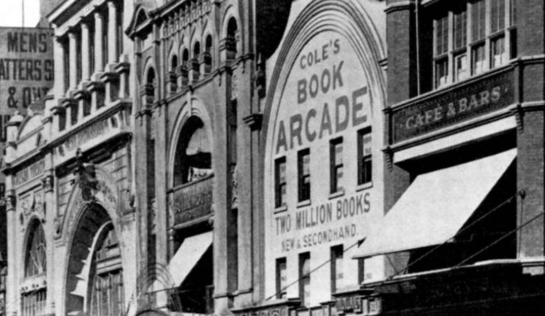 A picture of the front of Coles Book Arcade, Melbourne