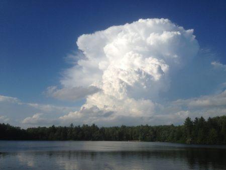 Cumulonimbus clouds, the origin of the phrase 'on cloud 9'
