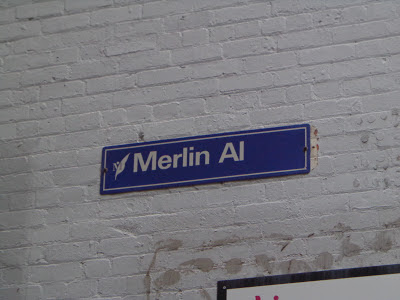 Street sign for Merlin Alley, Melbourne