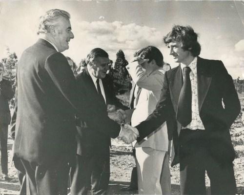 Gough Whitlam and James Mollison