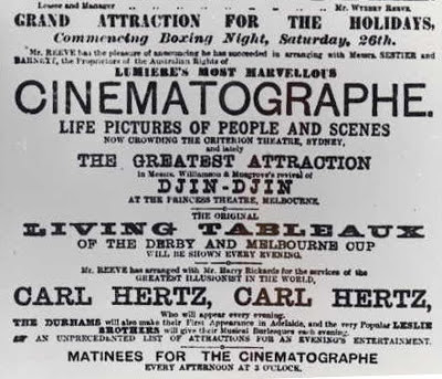 An ad for Australia's first screening