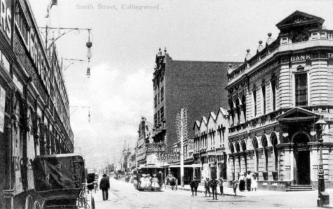 Looking down Smith Street, Collingwood, 1880