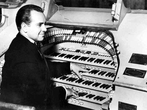 Frank Lanterman at the organ console