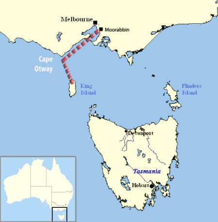 Frederick Valentich's planned route