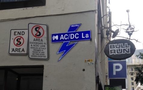 Street sign for AC/DC lane, Melbourne