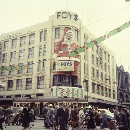 Foy's giant Christmas Santa