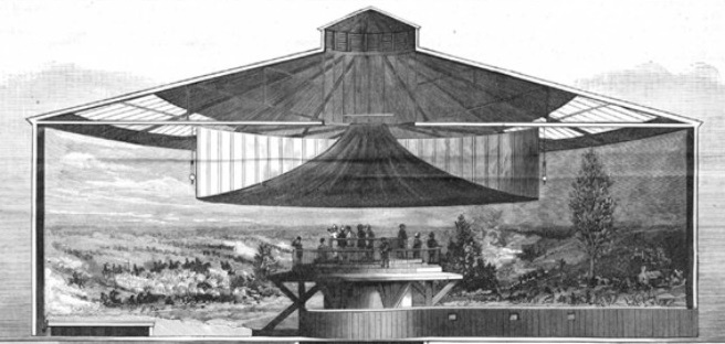A cross section of a 19th century 'Cyclorama'