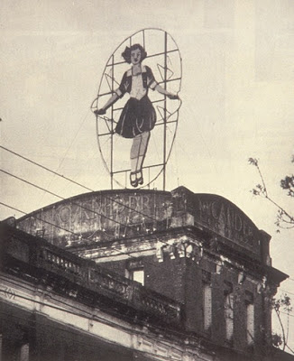 Skipping Girl Vinegar sign, just prior to being torn down