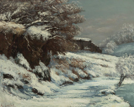 'Effect of Snow' by Gustav Courbet, an influence on Monet