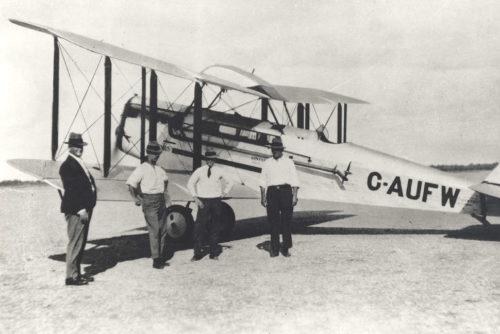 An early QANTAS biplane