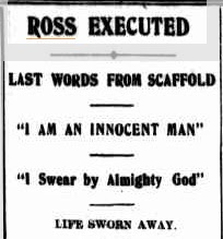 Colin Ross executed for the murder of Alma Tirtschke