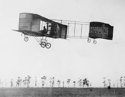 Houdini flies his plane at Digger's Rest