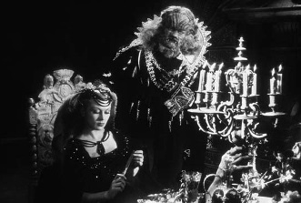 Still image from Cocteau's film version of 'Beauty and the Beast'
