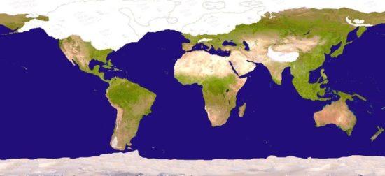 Extent of ice during last 'Glacial Maximum'