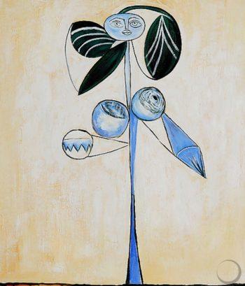 'La Femme Fleur', 1946, by Pablo Picasso