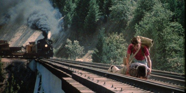 Train crossing the Stand By Me bridge