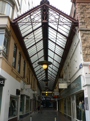 The glass roofed arcade from Cole's Book Arcade, present day