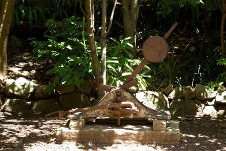 Old rail equipment in Wendy's Secret Garden
