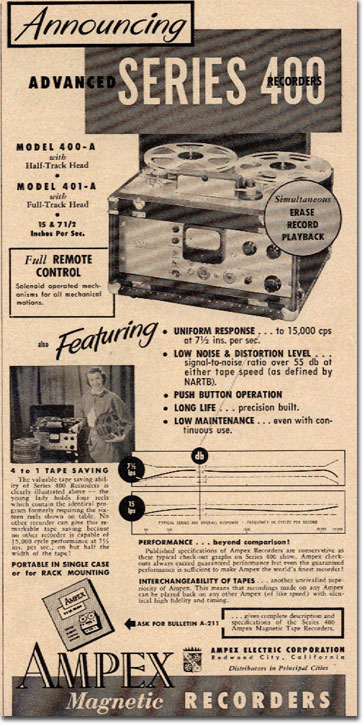 Details About 1958 Press Photo Diagram Magnetic Tape Recorder