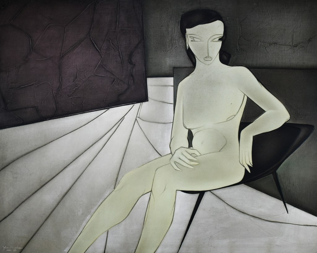 An abstract female nude by Georges Yatridès