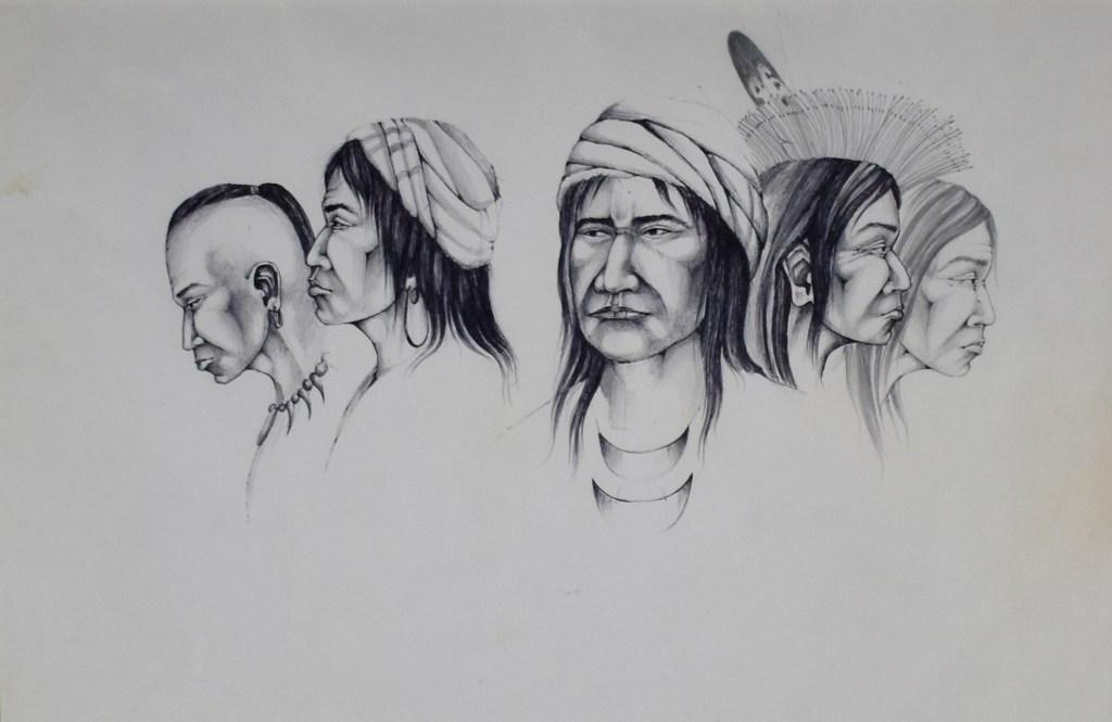 A portrait of five creek/seminole men by Lee Joshua