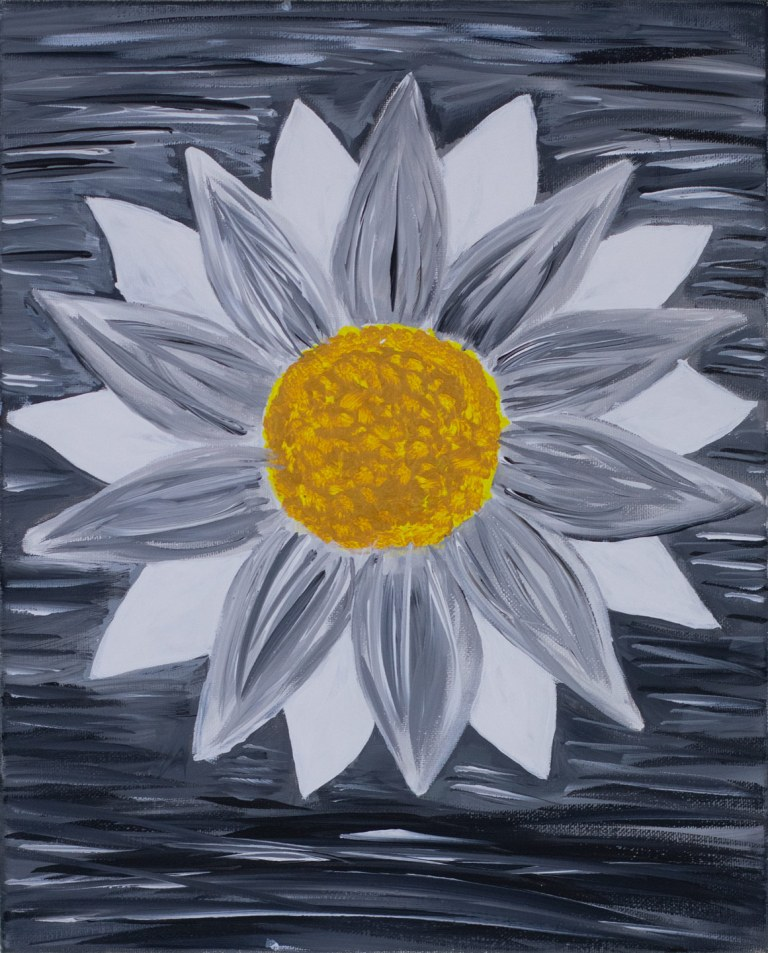 Lonesome Flower by Alissa Ferrell. Third place,two-dimensional, ages 16 to 19. NFS.