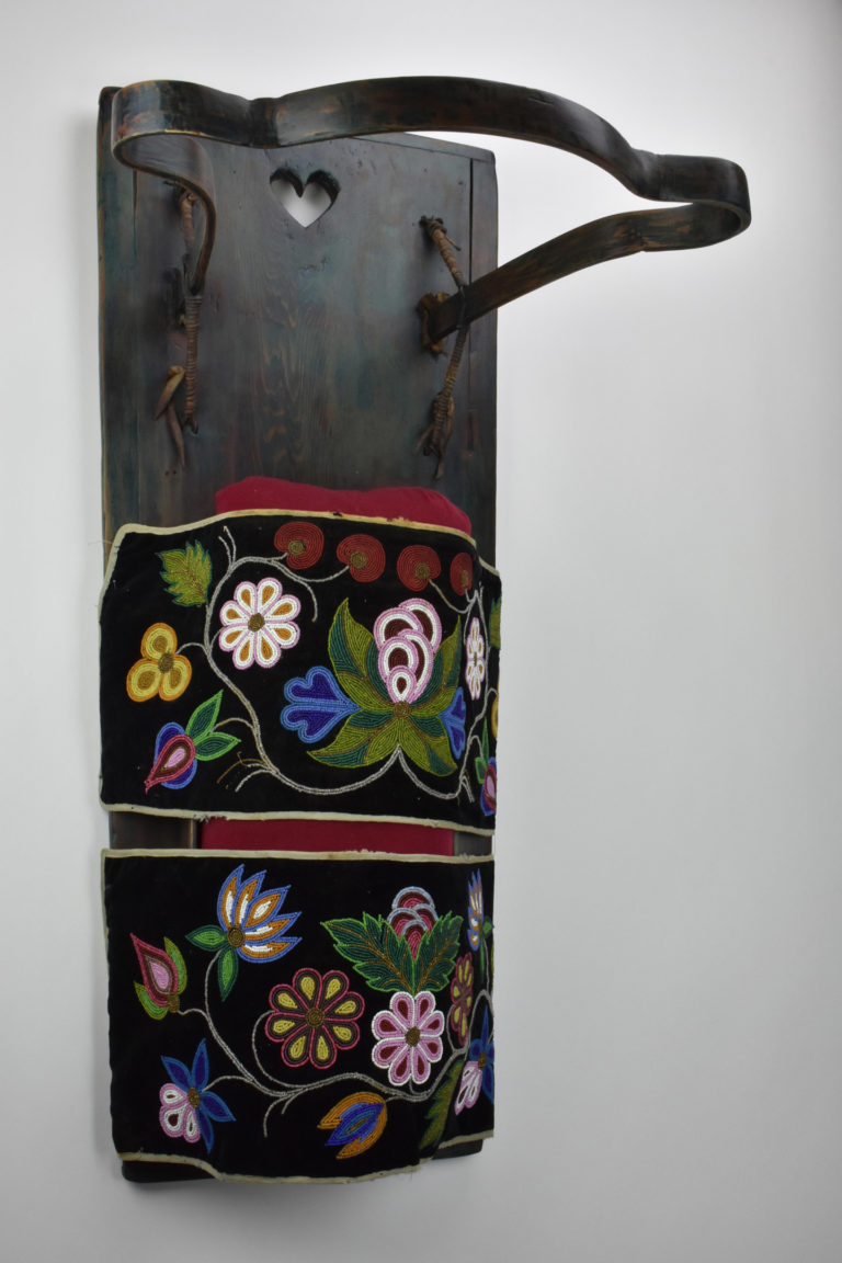 Board Cradle, ca. 1900. Ojibwe (Northeast).