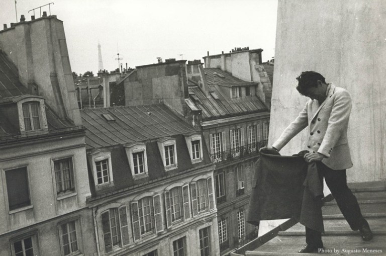 Harold Stevenson on the roof of his first apartment in Paris France, circa 1962. Photo by Augusto Meneses