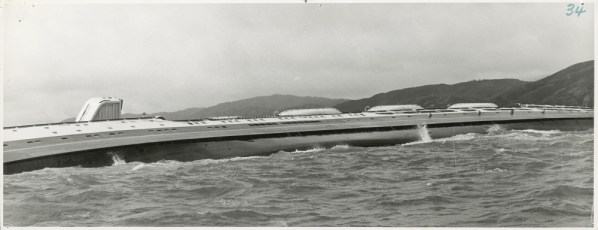 The TEV Wahine on her side