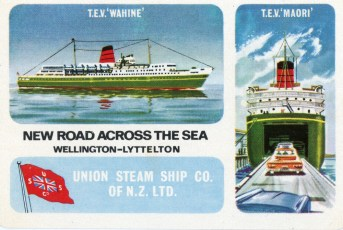 Union Steam Ship Company playing cards.