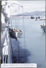 TEV Wahine lifeboat drill at Lyttleton 1966