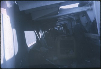 The inside of the TEV Wahine wreck