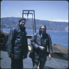 Two men on the TEV Wahine wreck