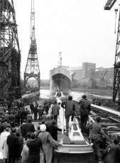 TEV Wahine launch Fairfield Shipbuilding and Engineering Company, Glasgow