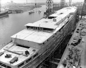 TEV Wahine construction at Fairfield Shipbuilding and Engineering Company, Glasgow