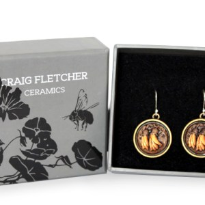 Craig Fletcher Ceramic Kowhai Earrings