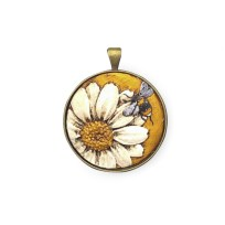 Craig Fletcher Ceramic Blue Kowhai Pendant, Jewellery, Pendant, Gift, Ceramic