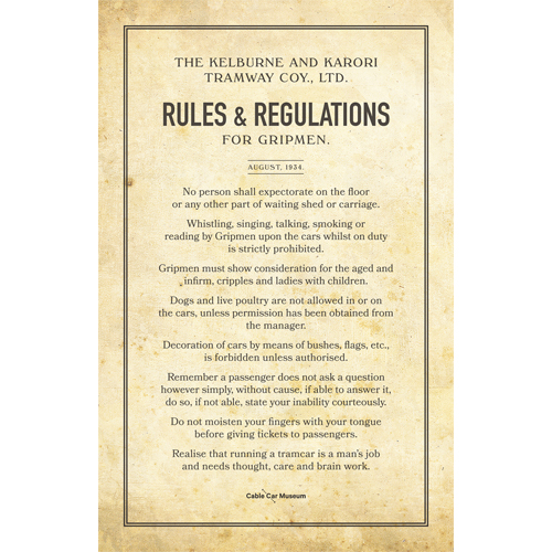 Gripmen Rules Tea Towel