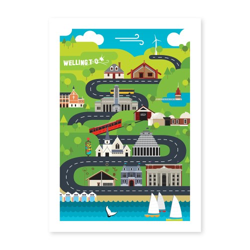 Wellington Architectural Medley Poster
