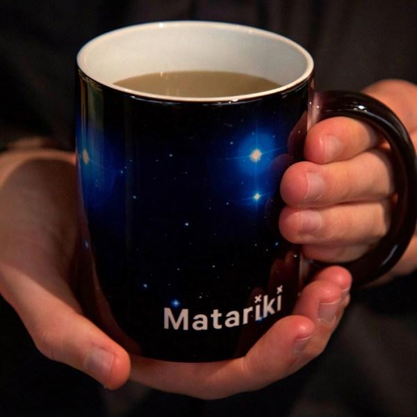 Matariki Heat-Change Mug, Matariki, Mug, Heat Change, Star, Stars, Science, Space, Homewares, Gift