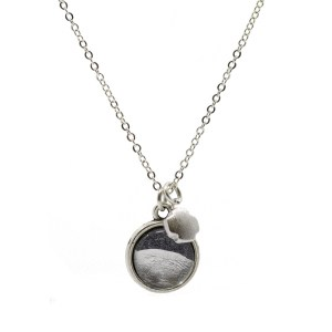 Silver Foil Necklace