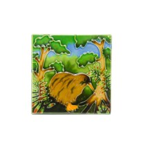 Small Kiwi & Tree Ceramic Tile