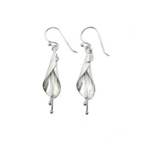 Silver Kowhai Flower Earrings