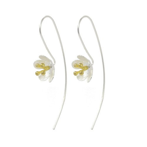 Silver Manuka Flower Earrings