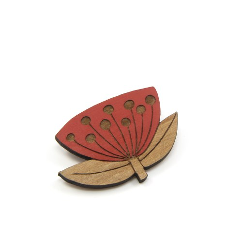 Natty Pohutukawa Flower Brooch
