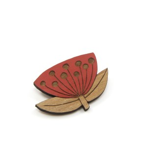 Pōhutukawa Flower Brooch