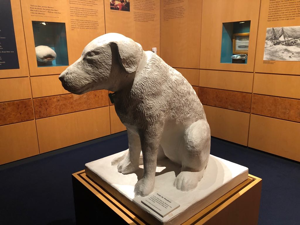 Paddy statue in the Museum. Photo credit: Museums Wellington