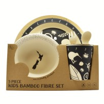 Kids Set, Black and white, Bamboo, Homewares, Eco-friendly, Toodles Noodles